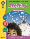 Math Task and Drill Combined Algebra Grade 3-5