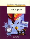 Pacemaker Pre-Algebra Classroom Resource Binder