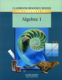 Pacemaker Algebra 1 Classroom Resource Binder in Print