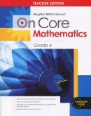 On-Core Mathematics Grade 4 Teacher Edition