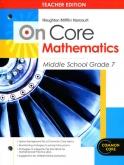 On-Core Mathematics Grade 7 Teacher Edition