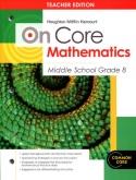On-Core Mathematics Grade 8 Teacher Edition