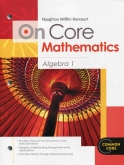 On-Core Mathematics Algebra 1 Student Edition
