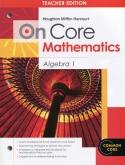 On-Core Mathematics Algebra 1 Teacher Edition
