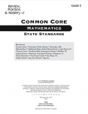 Mastery of Common Core State Standards Math Grade 5