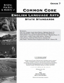 Mastery of Common Core State Standards Math Grade 7