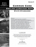 Mastery of Common Core State Standards ELA Grade 5