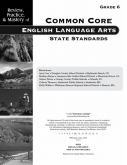 Mastery of Common Core State Standards ELA Grade 6