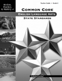 Mastery of Common Core State Standards ELA Grade 6 Guide