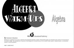 Algebra Warm-Ups Algebra