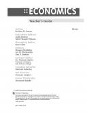 Economics Teacher's Guide Print Version