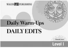 Daily Warm-Ups Daily Edits (Grades 5-8)